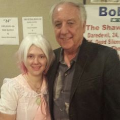 Me and the flirtatious Bob Gunton. He was awesome. Flirted with me quite often during scares that care 3.