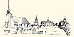 Vanha Vaasa, kirkko ja raatihuone