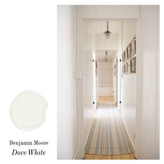 Benjamin Moore Dove White matte finish paired with Dove White semi gloss trim. This is the perfect white to use when there is a lot of cabin...