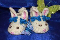Baby Schuhe  in Hasen Form von Die Sandfrau auf DaWanda.com
