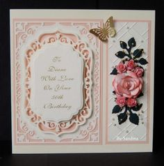 By Sandma - Spellbinders Elegant Labels Four and large rose made with Spellbinders Rose Creations