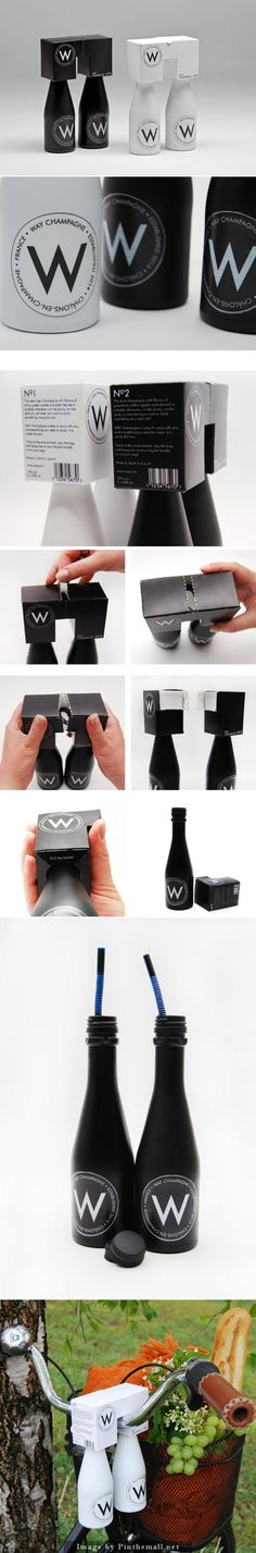WAY #Champagne #packaging (Student Project) by Jenny Nölvand & Anna-Stina Nilsson - http://www.packagingoftheworld.com/2014/11/way-champagne-student-project.html