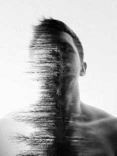 ghost in the machine - Double Exposure Photography by Simon Hart (Artist - Photography, Landscape photography, Photography tips Photoshop Photography, Abstract Photography, Creative Photography, White Photography, Portrait Photography, Photography Rules, Minimalist Photography, Adventure Photography, Urban Photography