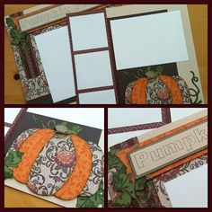 Creating scrapbook pages with CTMH Huntington paper pack and Cricut Artbooking cartridge to get ready for fall memory making and memory keeping.  http://somethingaboutsharing.com/