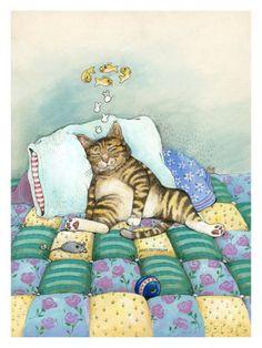 オールポスターズの ゲイリー・パターソン「Cat Nap」ジクレープリント