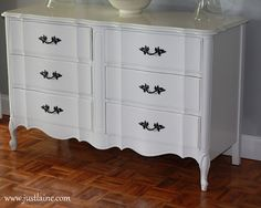 This was quite a find. Dresser re-do. Befores and afters.
