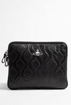 Squiggle Embossed Leather iPad Cover by Vivienne Westwood Accessories