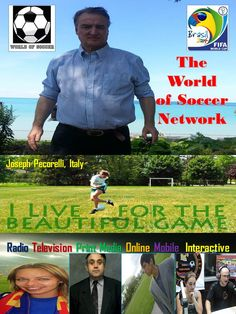 Joseph Pecorelli, Italy, co-host of The World of Soccer Radio Show on iTunes with Juan Carlos Cordero and Alison Lemon Online Mobile, Soccer World, Itunes, Joseph, Lemon, Italy, Baseball Cards, Sports, Hs Sports