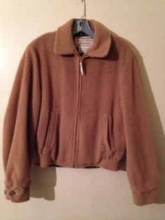 Vintage 50's Buck Skein Brown Tan Bomber Thermalized Jacket Coat Size 38