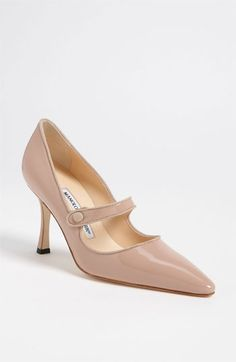 Manolo Blahnik 'Campari' Pump! Nude shoes are showing up and showing OUT! Class Exposed. On my wish list.
