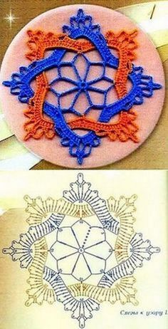 Tecendo Artes em Crochet: Flores - created on Frozen Lotus Decorative Free C - a grouped images picture - Pin Them All This Pin was discovered by Све crochet motifs, to join for a big bed cover or to make lacy curtains, or to use alone as coasters, do Crochet Flower Squares, Crochet Butterfly Pattern, Crochet Motif Patterns, Crochet Designs, Crochet Flowers, Crochet Art, Thread Crochet, Crochet Crafts, Diy Crafts