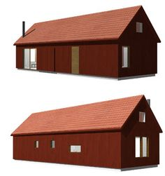 Dalåsen 58 is an easily positioned holiday home with interior adjustable loft. Wooden House, Simple House, House Rooms, Outdoor Furniture, Outdoor Decor, Ground Floor, Living Spaces, House Ideas, Floor Plans