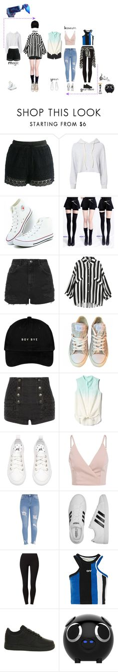 """""""Deja Vu """"Focus"""" Dance Practice"""" by dejavuofficial ❤ liked on Polyvore featuring Chicwish, Monrow, Topshop, Converse, Pierre Balmain, Gap, adidas, Vero Moda, Off-White and NIKE"""