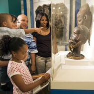 Brooklyn museum Visitors using a Family Guide