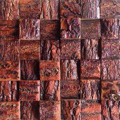 Vintage wood mosaic backdrop logs Paper decorative panel mosaic backdrop Cafe Bar restaurants XMF