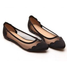 Cheap Wholesale Sexy Casual Splicing and Gauze Design Women's Flat Shoes (BLACK,39) At Price 20.00 - DressLily.com
