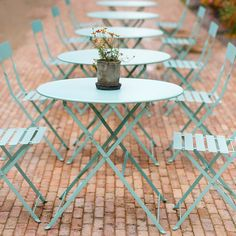 Painted Metal Bistro Table in Outdoor Living Accent Tables + Consoles at Terrain