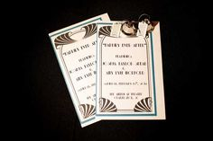 Day of ceremony programs from a 1920's inspired wedding