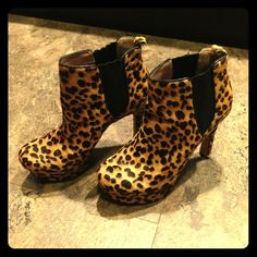 Animal print booties Only wore twice and has been in storage. (Some wear from being stored. Will provide pics if interested) Ready to sell. Send me your offer. Vince Camuto Shoes