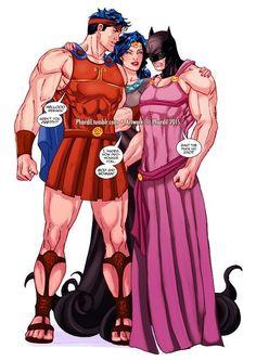 That Hercules DC crossover Superman X Batman, Batman Comic Art, Batman Robin, Dc Memes, Marvel Memes, Marvel Dc Comics, Dc Trinity, Batman Arkham Origins, Univers Dc