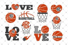 Basketball svg, Sports svg bundle, Basketball monogram svg, Basketball love svg, Split basketball svg files for Cricut Silhouette dxf files Basketball Mom Shirts, Free Basketball, Basketball Tricks, Basketball Stuff, Basketball Players, Basketball Quotes, Basketball Court, Fantasy Basketball, Basketball Crafts