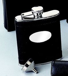 6 Oz. Stainless Steel Flask with Oval Engraved Plate