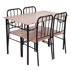 5 Piece Dining Set Table and 4 Chairs