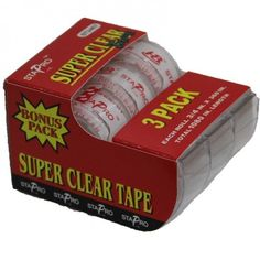 3 Rolls StaPro Invisible Super Clear Scotch Tape with Dispenser  #StaPro