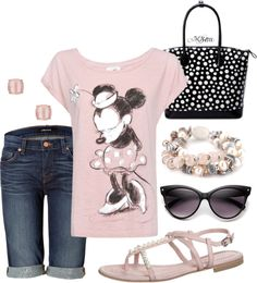 """""""Minnie in Pale Pink"""" by moniker-1 ❤ liked on Polyvore"""