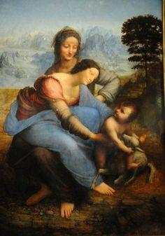 Leonardo, Sant'Anna, la Vergine e il Bambino, ca 1502-1513, olio su tavola, Parigi, Museo del Louvre | Pearltrees