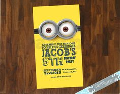 Super cute printable, customized Minion Party Invitation that helps save a ton of money