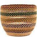 African Basket - Ghana Bolga - Storage Basket - 12.5 Inches Across - #62194