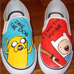 Adventure Time Slip-on Shoes