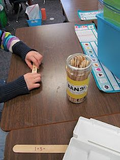 Bang- pull a stick, read the math fact, and solve. If you get a stick that says BANG! put all your sticks back.