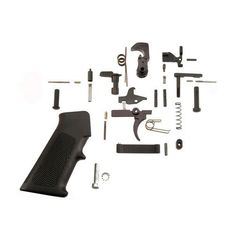 AR15 Complete LPK w/Standard Trigger Manufacture ID: LP1045 This lower receiver parts kit includes everything needed to build a complete lower receiver, less a stock assembly of your choice and a stri