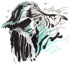 Swamp Thing sketch by Stephen R. Bissette