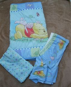 Crib Bedding Winnie the Pooh and Piglet 3 Piece Set Multi-Color Cotton/Polyester