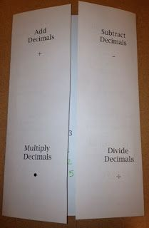 Middle School Math Rules!: Decimal Operations Foldable