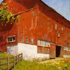 Jon Redmond Barn oil on canvas The Art Room: An Interview with Jon… Farm Paintings, Paintings I Love, Landscape Paintings, Landscape Art, Landscape Architecture, Air Image, Old Barns, Gouache Painting, Contemporary Landscape