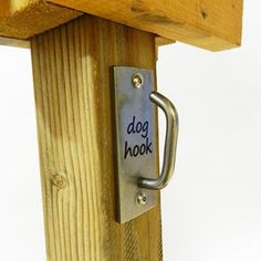 Dog Hook - add to Little Free Library, along with poop bags :)