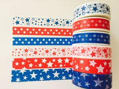 Fourth of July Washi Tape in 6 Patterns by GoatGirlMH on Etsy