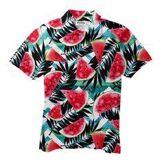 Tropical Melons Short-Sleeve Button Down Shirt Button Downs, Button Down Shirt, Button Shirts, Fashion 2018, Make You Smile, Tie Dye, Men's Polos, Polo Shirts, Men Casual
