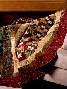 "Showcase the rich variety of fabrics in a Jelly Roll with this gorgeous lap quilt that can be whipped up over a weekend. Size: 54"" x 62"". Block Size: 8"" x 8"". Skill Level: Beginner"