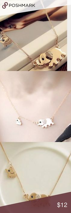 Cute Elephant Necklace New Cute Elephant Necklace New Posherpooch Jewelry Necklaces