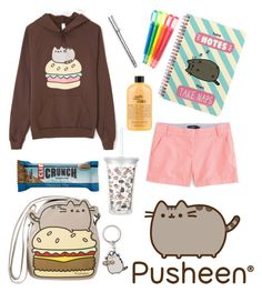 """#PVxPusheen"" by mershadies7 ❤ liked on Polyvore featuring Pusheen, J.Crew, philosophy, BackToSchool, contestentry and PVxPusheen"