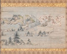 Detached section from scroll one from A Long Tale for an Autumn Night (Aki no yo nagamonogatari), ca. 1400. Japan. The Metropolitan Museum of Art, New York. Purchase, Friends of Asian Art Gifts, 2005 (2005.312)