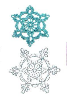 Crochet Patterns Christmas Mobile LiveInternet We knit for the New Year Crochet Diy, Thread Crochet, Irish Crochet, Crochet Motif, Crochet Crafts, Crochet Projects, Crochet Patterns, Crochet Snowflake Pattern, Crochet Stars