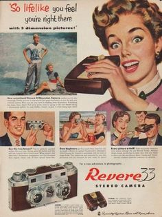 pictures of vintage camera ads - Google Search