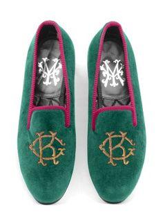 Monogram   My Slippers, London - Luxury Bespoke Albert Slippers