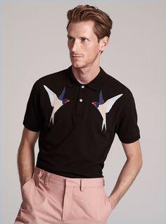 Model Bastiaan Ninaber wears a spring-summer 2017 look by Stella McCartney.